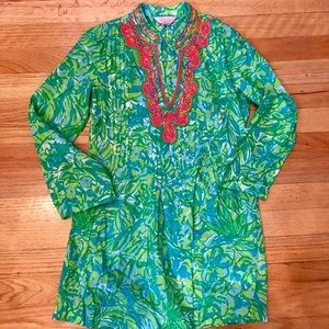 Lilly Pulitzer tunic with neon beading detail